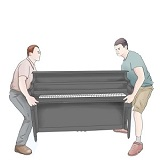 Upright Piano Moving / Delivery Service (Point A to B)
